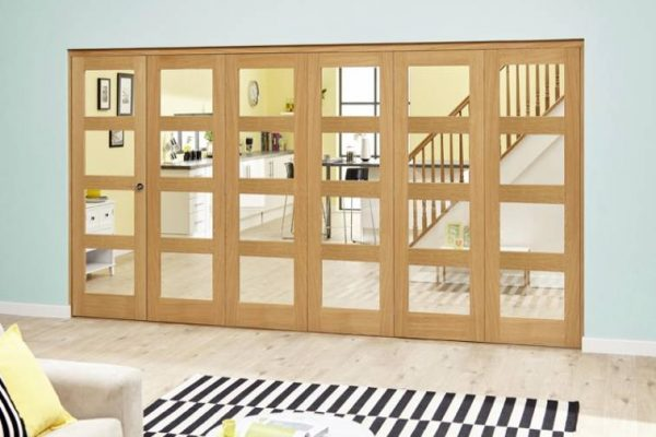 Interior Oak bifolds 6 Panels