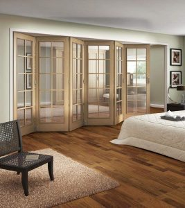 Internal French Folding Doors Bedroom