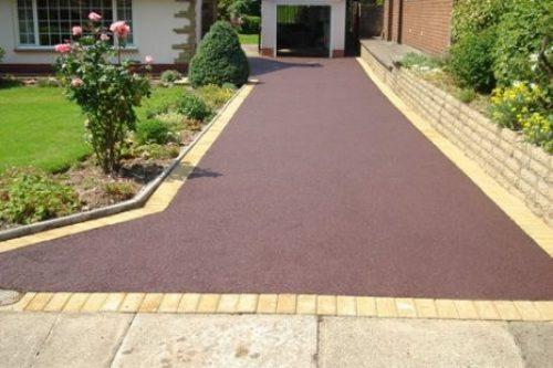 Red Tarmac Driveway Installation UK