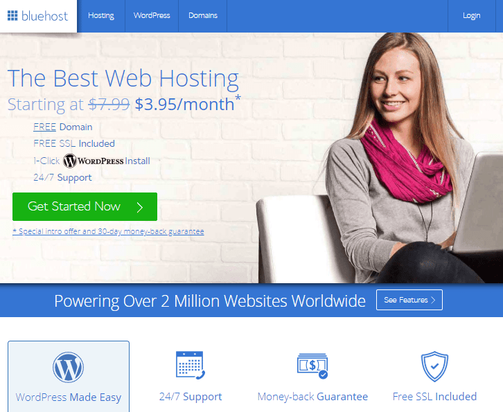 WordPress Website Hosting from Bluehost
