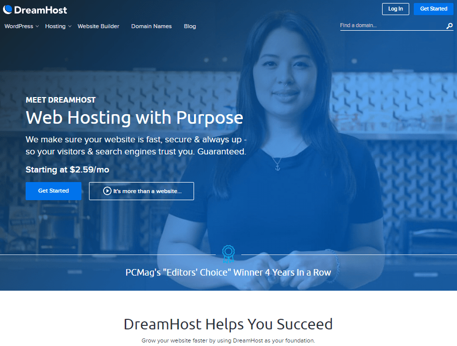 Business Website Hosting from DreamHost