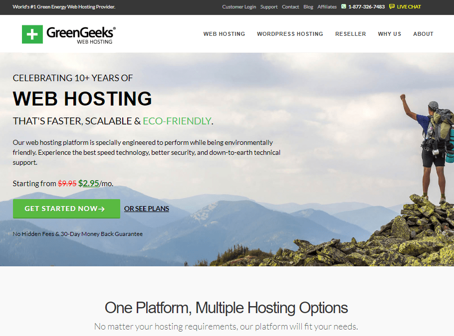 GreenGeeks provide eco-friendly website hosting solutions