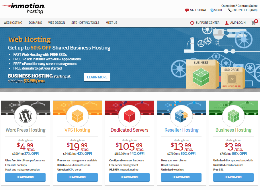 Leading Website Hosting Provider InMotion